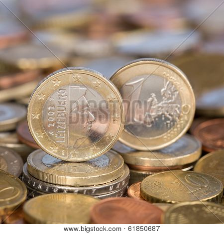 One Euro Coin Luxemburg