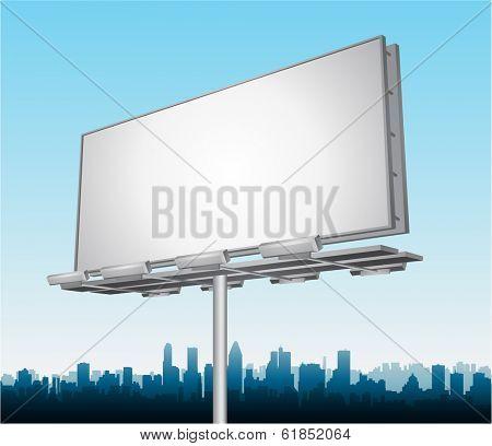 Vector highway ad billboard roadside