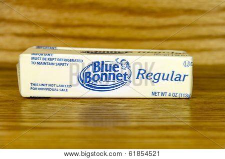 Stick Of Blue Bonnet Margarine