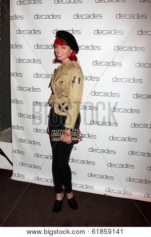 LOS ANGELES - MAR 20:  Liza Mae Carlin at the Decades: Les Must De Moschino Event at Decades Boutique on March 20, 2014 in Los Angeles, CA