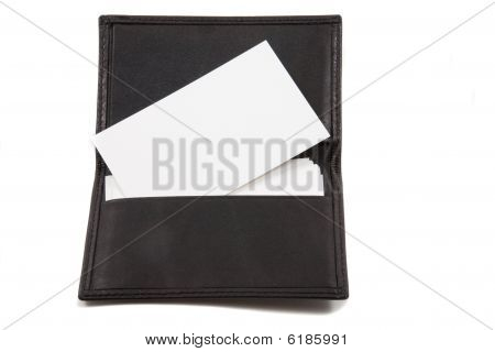 Stack Of White Blank Card In Card Holder