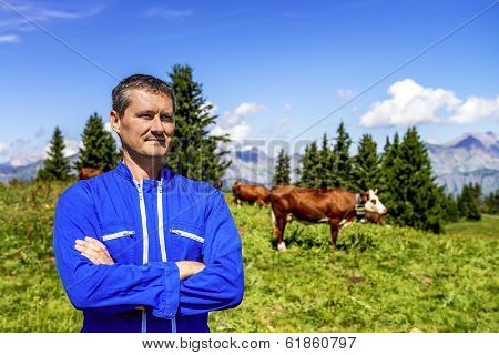 Herdsman And Cows