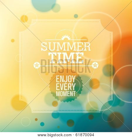 Modish summer background in color. Vector illustration.