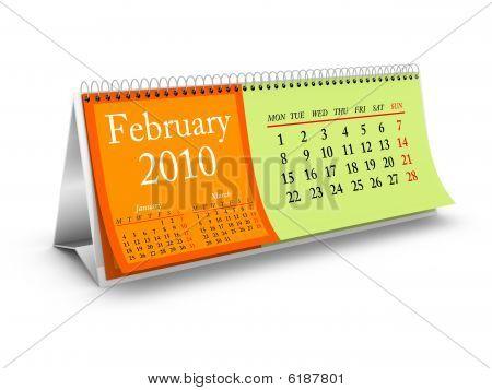 February 2010 Desktop Calendar