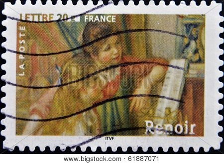 FRANCE - CIRCA 2006: A stamp printed in France the box