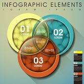 modern vector abstract intersection circle infographic elements poster