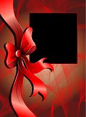 Abstract background with christmas bow for your text poster