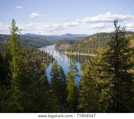 Coeur'd Alene Lake and North Idaho Mountains
