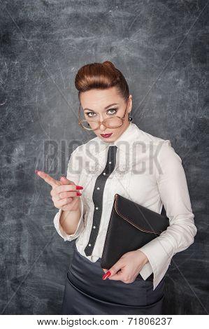 Strict Teacher In Eyeglasses