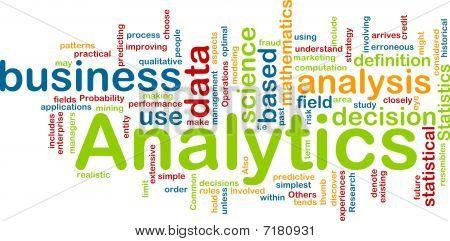 Analytics Hintergrund Konzept