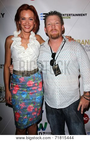 LOS ANGELES - SEP 6:  Kristanna Loken, Christopher Ray at the