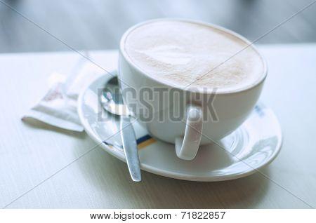 Close Up Cappuccino coffee