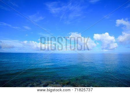 Horizon and the sea of Okinawa