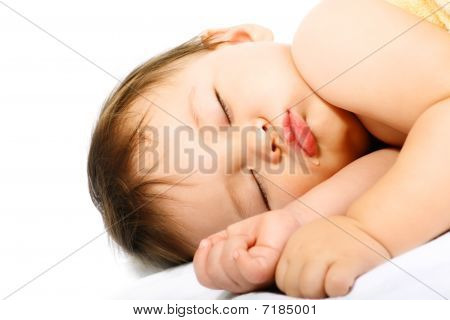 Adorable sleeping baby.