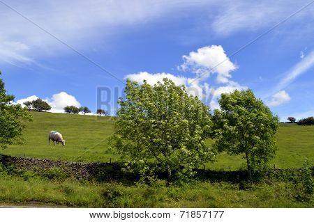 Little Hayfield in Derbyshire, England UK