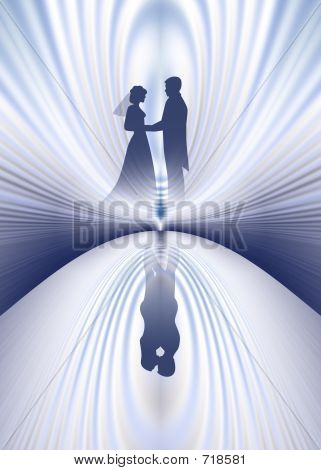Wedding Couple Reflection