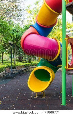 The Colorful Plaything In Benjasiri Park, Bangkok, Thailand