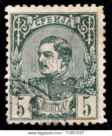 King Milan stamp