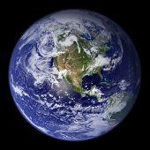 High resolution 3D render of planet Earth. poster