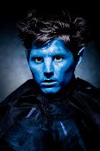 Picture of fairy tale man. Theater make up poster