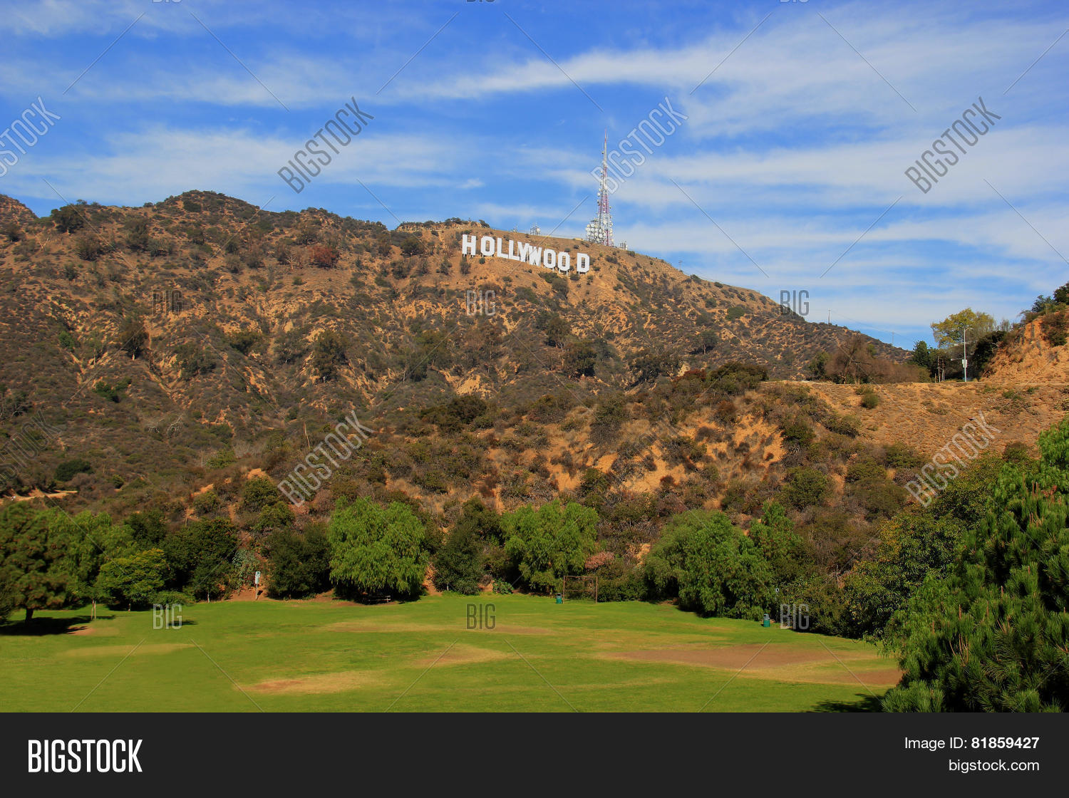 hollywood sign image photo bigstock. Black Bedroom Furniture Sets. Home Design Ideas