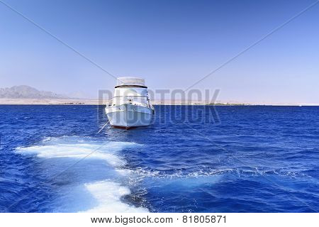 Yacht In The Red Sea. Egypt.