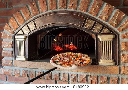 Pizza On Traditional Oven