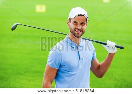 Confident Golfer.