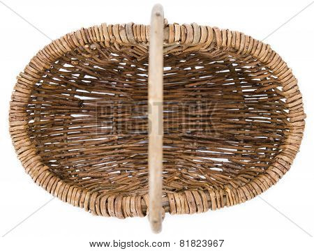 Small Basket Isolated On White