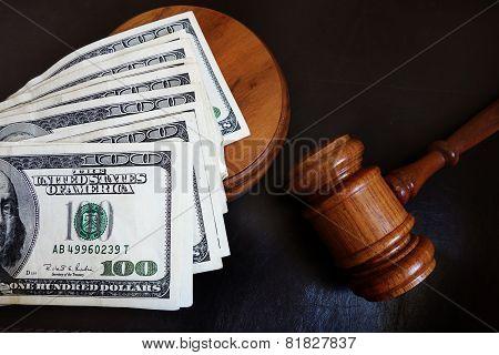 Gavel With Money