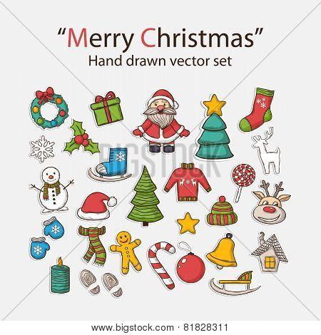 Vector Christmas set