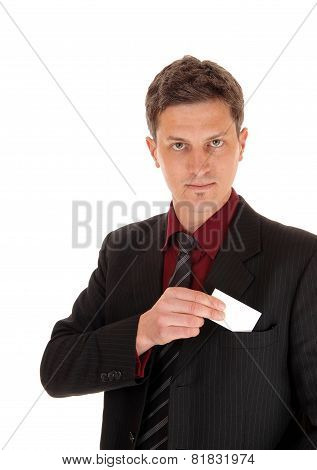 Man With Business Card.