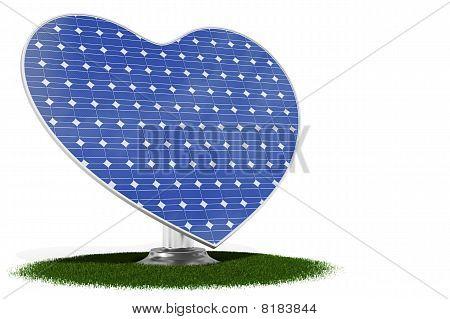 Solar Panel Heart