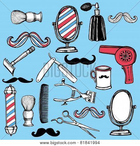 Retro barbershop set