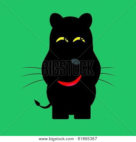 Tricky Black Leopard Cartoon Character