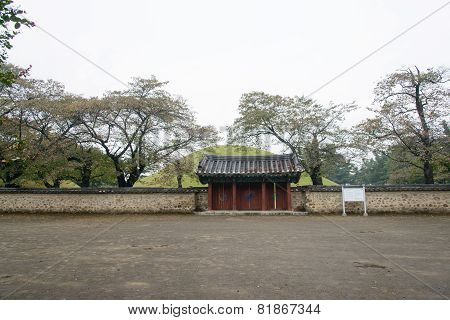 Gyeongju, Korea - October 20, 2014: Tomb Of King Michu