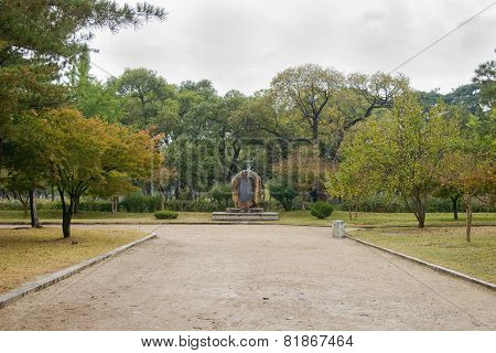 Gyeongju, Korea - October 20, 2014: Entrance Of Oreung