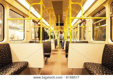 Seats In Subway Train