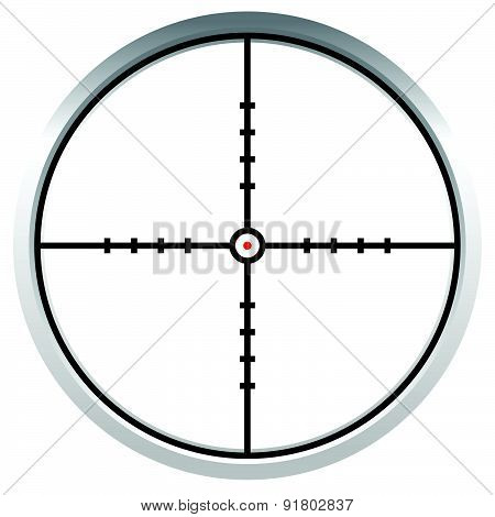 Crosshair, Reticle, Target Mark. Editable Vector Illustration.