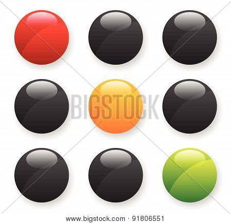 Traffic Lights, Traffic Lamps Isolated On White. Semaphores.