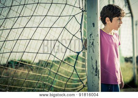 Young female goal keeper