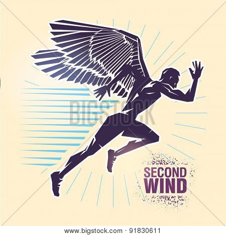 Start running. Vector illustration created in topic