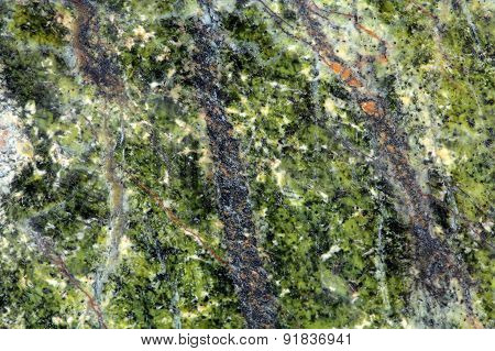 Green Stone Surface
