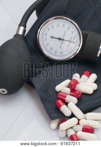 Pills  and sphygmomanometers