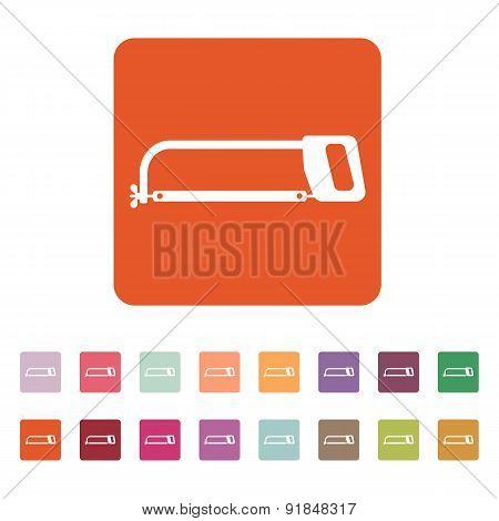 The Hacksaw Icon. Hacksaw Symbol. Flat