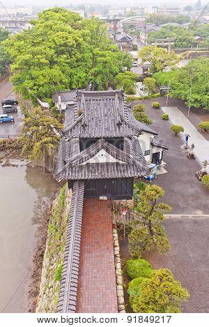 Turret Of Nakatsu Castle On Kyushu Island, Japan