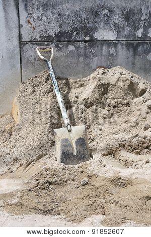 Shovel On Sand.