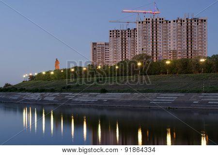 Buildings On The Waterfront Of Krasnoarmeysk District Volgograd