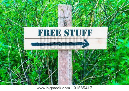 Free Stuff Directional Sign