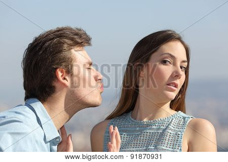 Friend Zone Concept With Woman Rejecting Man